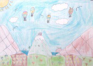 Air Balloons on a Mountain