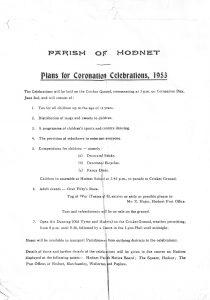 HodnetCoronationProgramme