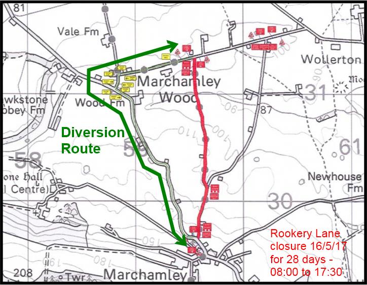 Rookery Lane Closure 1705